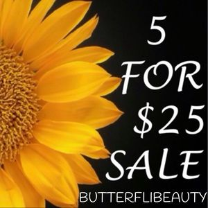 5/$25 ADD 5 TO A BUNDLE AND OFFER $25.